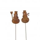 wholesale Home & Living: Metal connector Schneemann , 2 motifs, H120cm, ro